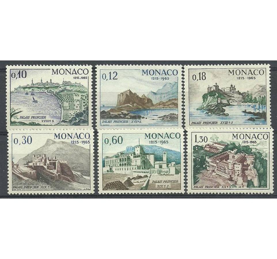 Monako 1966 Mi 812-817 Czyste **
