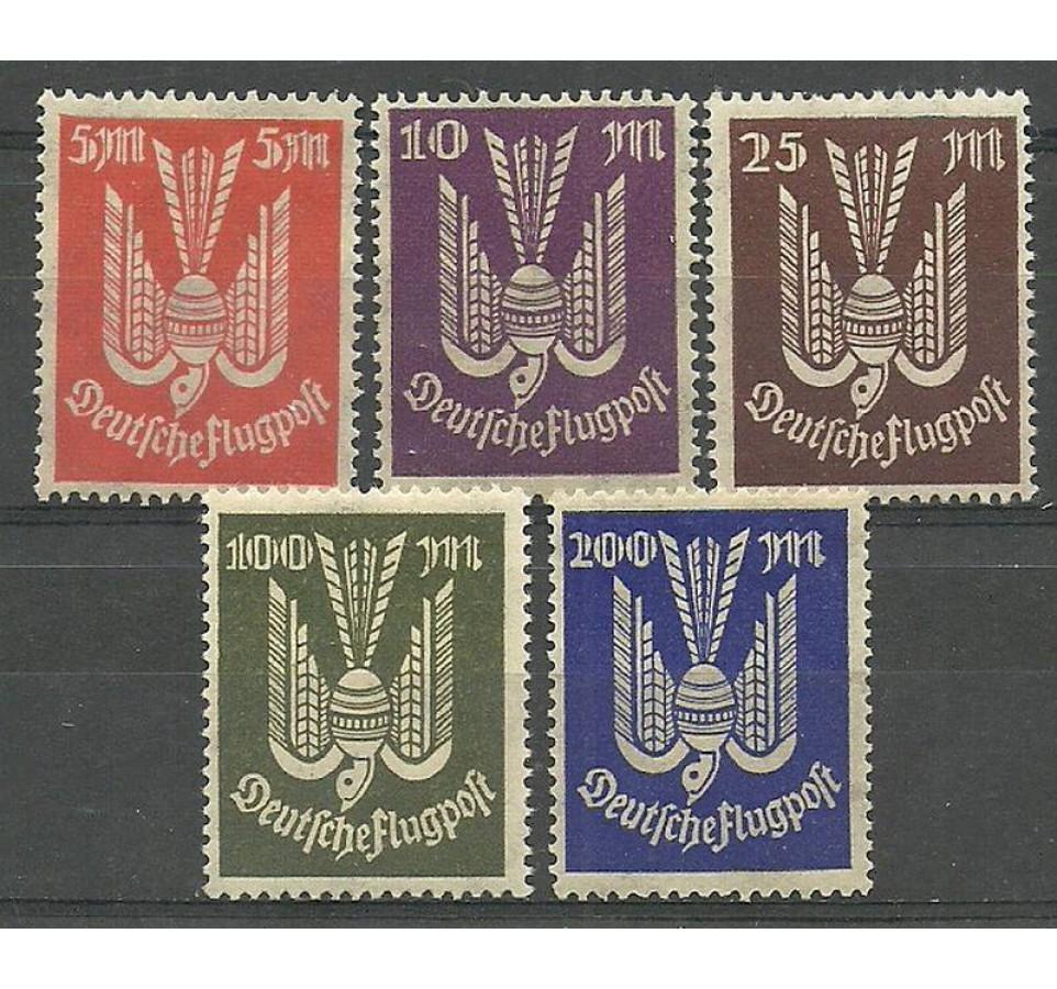 Deutsches Reich / III Rzesza 1923 Mi 263-267 Czyste **