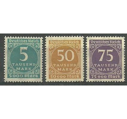 Znaczek Deutsches Reich / III Rzesza 1923 Mi 274-276 Czyste **
