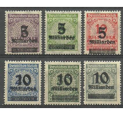 Znaczek Deutsches Reich / III Rzesza 1923 Mi 332-337 Czyste **