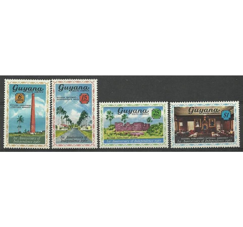 Gujana 1967 Mi 269-272 Czyste **