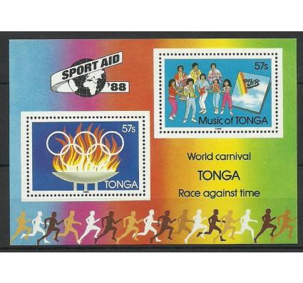 Znaczek Tonga 1988 Mi bl 12 Czyste **