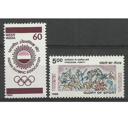 Znaczek Indie 1988 Mi 1180-1181 Czyste **