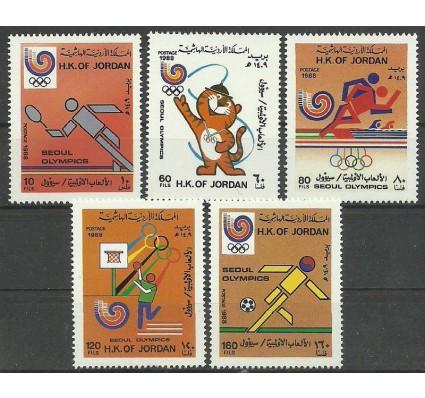 Znaczek Jordania 1988 Mi 1406-1410 Czyste **