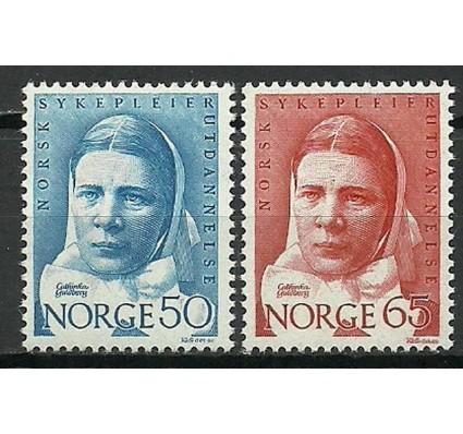 Znaczek Norwegia 1968 Mi 574-575 Czyste **