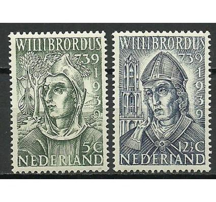 Znaczek Holandia 1939 Mi 332-333 Z podlepką *
