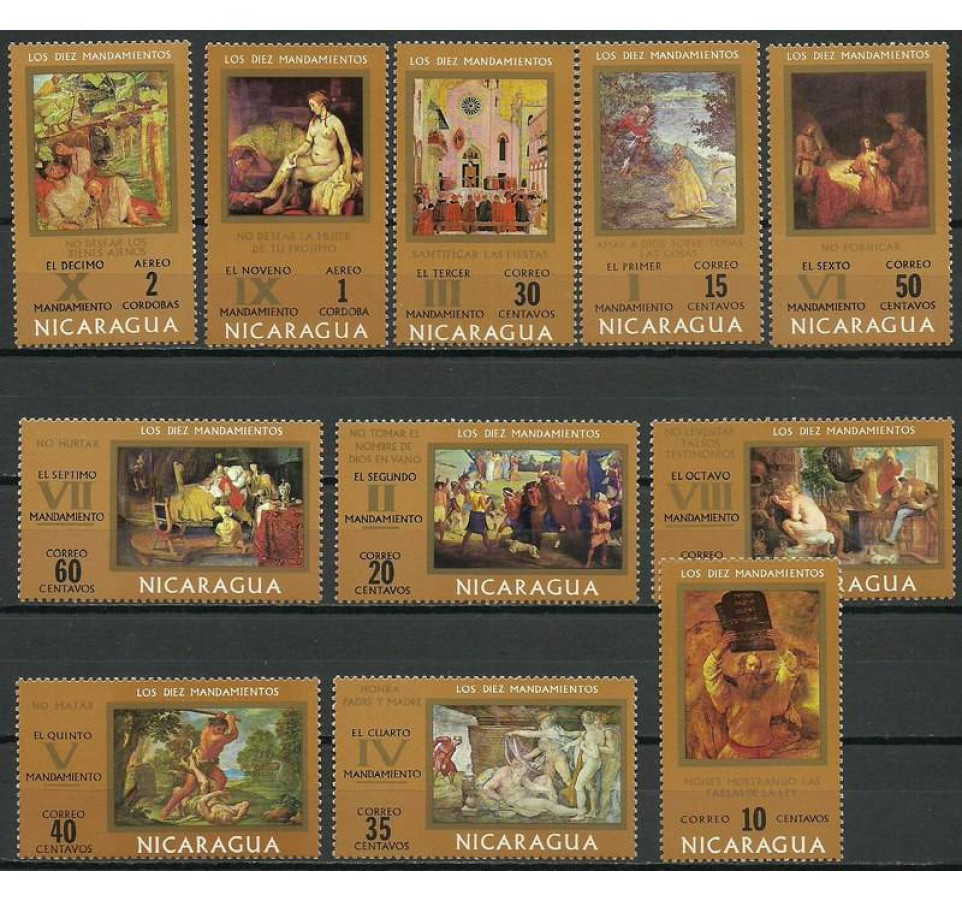 Nikaragua 1971 Mi 1641-1651 Czyste **