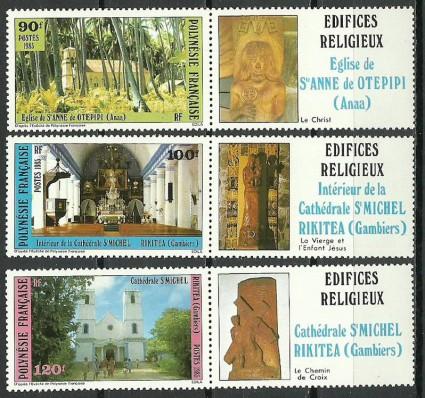 Znaczek Polinezja Francuska 1985 Mi zf 439-441 Czyste **
