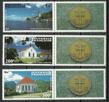 Znaczek Polinezja Francuska 1986 Mi zf 467-469 Czyste **