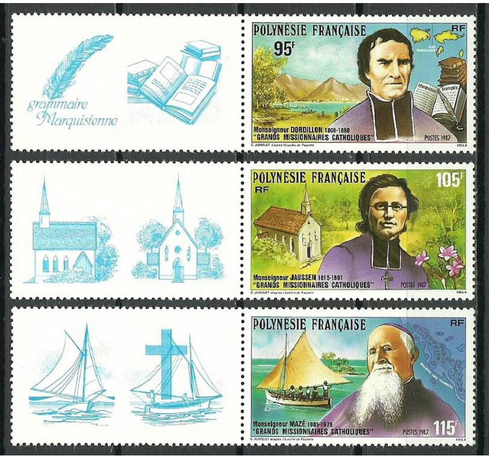 Polinezja Francuska 1987 Mi zf 492-494 Czyste **
