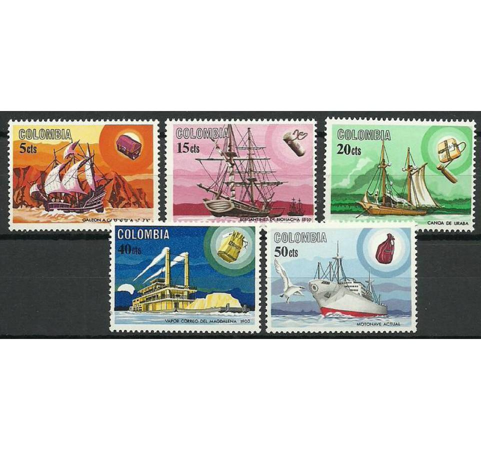 Kolumbia 1966 Mi 1073-1077 Czyste **