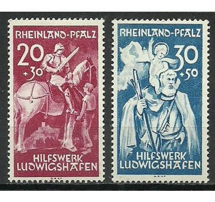 Znaczek Rheinland-Pfalz 1948 Mi 30-31 Czyste **