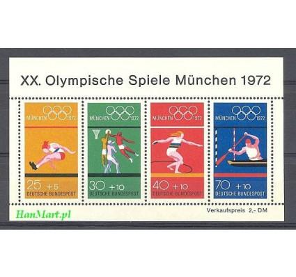 Niemcy 1972 Mi bl 8 Czyste **