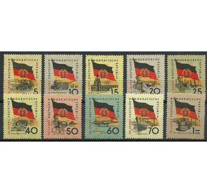 Znaczek NRD / DDR 1959 Mi 722-731 Czyste **