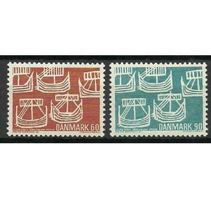 Znaczek Dania 1969 Mi 475-476 Czyste **