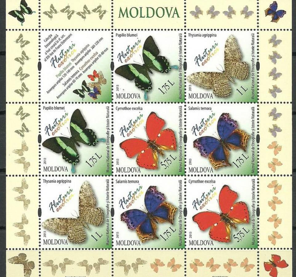 Mołdawia 2013 Mi zd ark 838-841 Czyste **