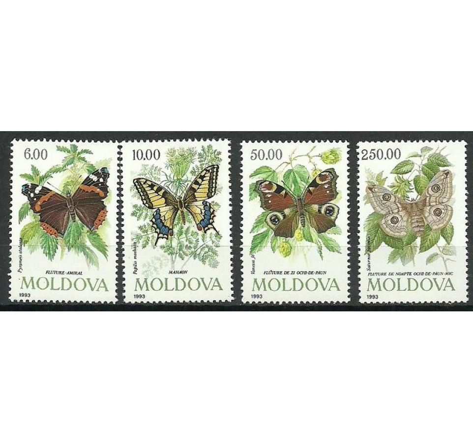Mołdawia 1993 Mi 77-80 Czyste **