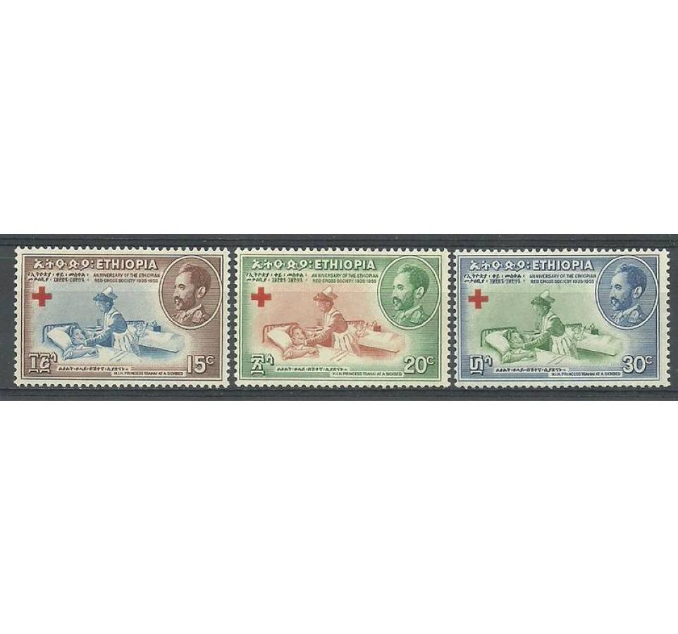 Etiopia 1955 Mi 334-336 Czyste **