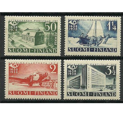 Znaczek Finlandia 1938 Mi 213-216 Z podlepką *