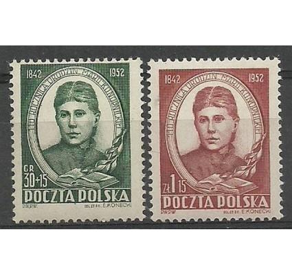 Znaczek Polska 1952 Mi 739-740 Fi 601-602 Czyste **