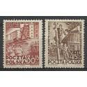 Polska 1952 Mi 746-747 Fi 605-606 Czyste **