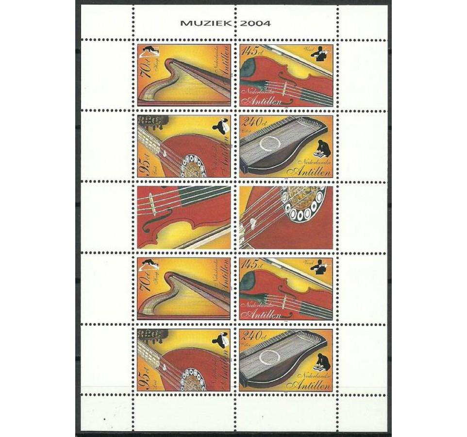 Antyle Holenderskie 2004 Mi ark 1295-1298 Czyste **