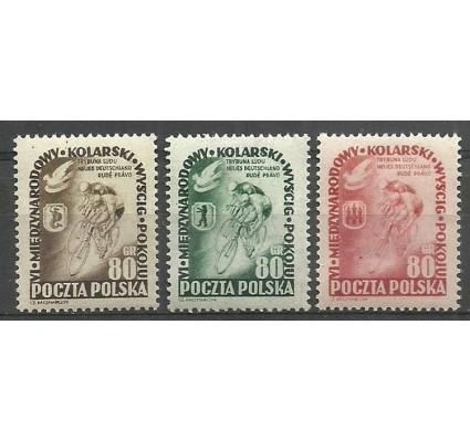 Znaczek Polska 1953 Mi 799-801 Fi 661-663 Czyste **