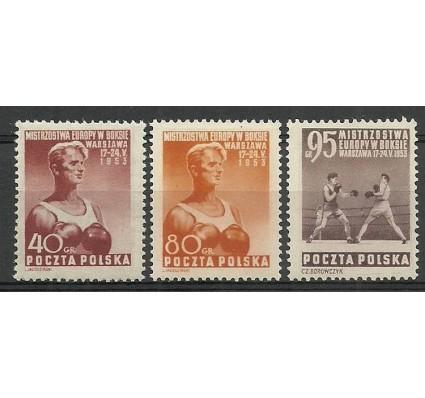 Polska 1953 Mi 802-804 Fi 664-666 Czyste **