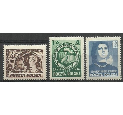 Polska 1953 Mi 811-813 Fi 673-675 Czyste **