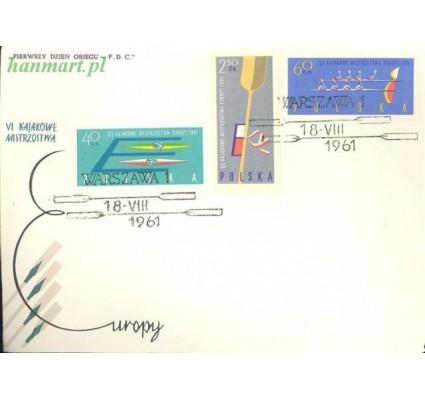 Znaczek Polska 1961 Mi 1254-1256B Fi 1110-1112A FDC