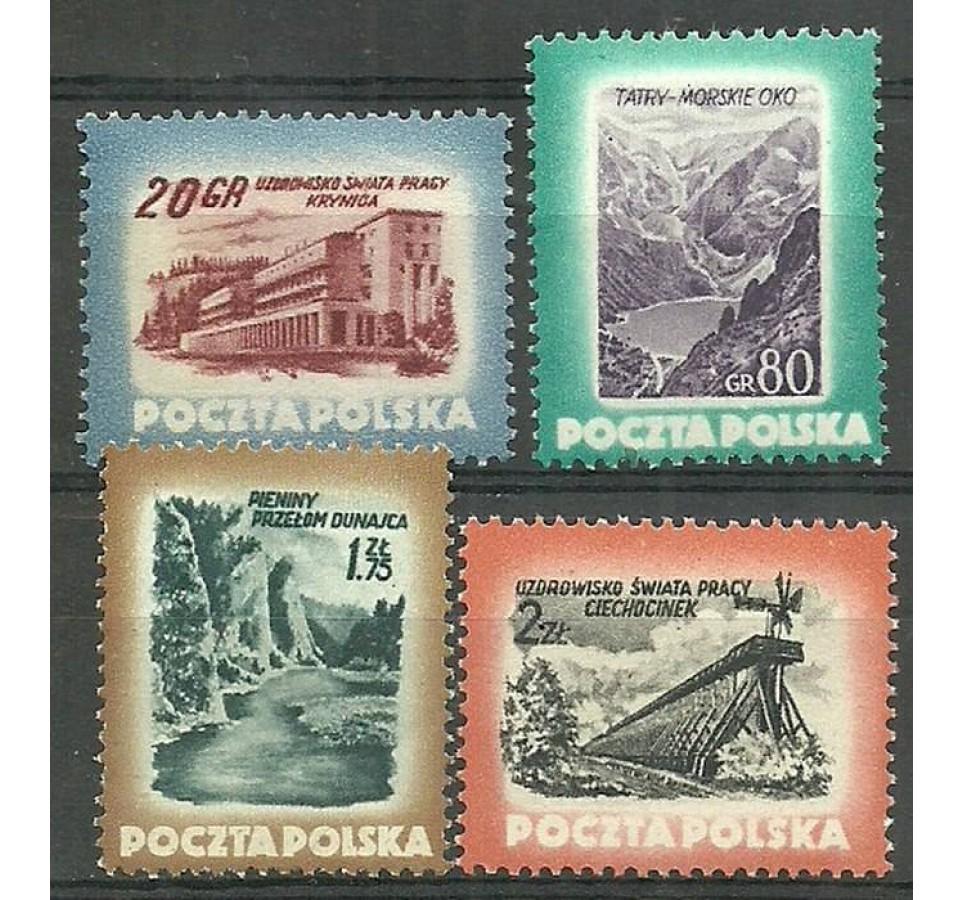 Polska 1953 Mi 827-830A Fi 689-692 Czyste **