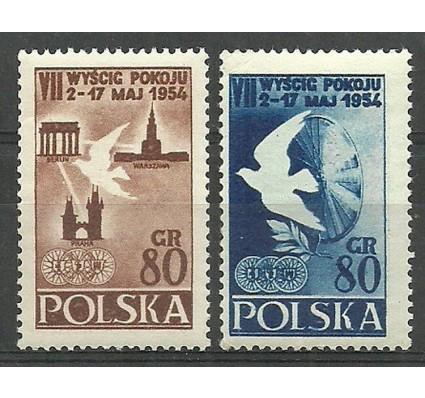 Znaczek Polska 1954 Mi 845-846A Fi 707-708 Czyste **