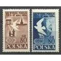 Polska 1954 Mi 845-846A Fi 707-708 Czyste **