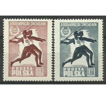 Znaczek Polska 1954 Mi 864-865 Fi 721-722 Czyste **
