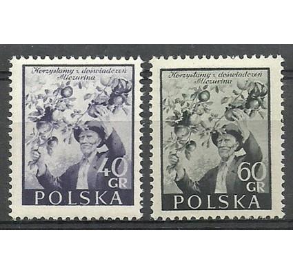 Znaczek Polska 1954 Mi 870-871 Fi 730-731 Czyste **
