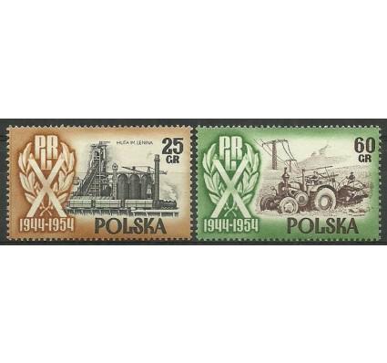 Znaczek Polska 1954 Mi 877-878 Fi 749I+752I Czyste **