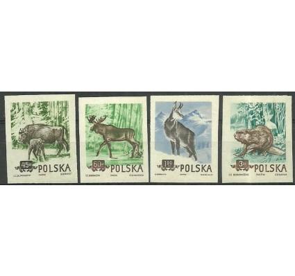 Znaczek Polska 1954 Mi 885-888B Fi 743-746A Czyste **