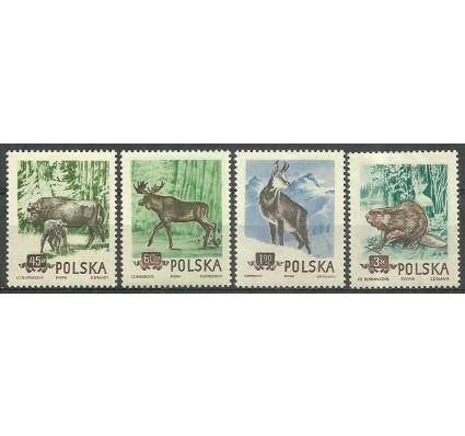 Znaczek Polska 1954 Mi 885-888A Fi 743-746B Czyste **