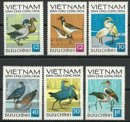 Znaczek Wietnam 1972 Mi 701-706 Czyste **