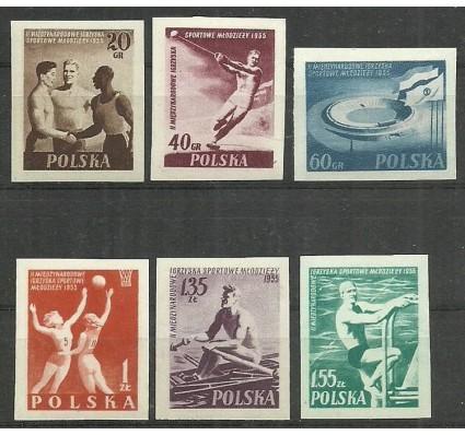 Znaczek Polska 1955 Mi 934-939B Fi 790-795A Czyste **
