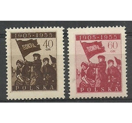 Polska 1955 Mi 946-947 Fi 802-803 Czyste **