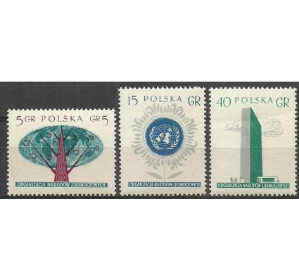 Znaczek Polska 1957 Mi 998-1000 Fi 854-856B Czyste **