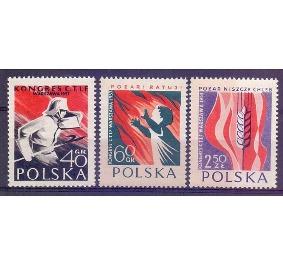 Polska 1957 Mi 1025-1027 Fi 881-883 Czyste **