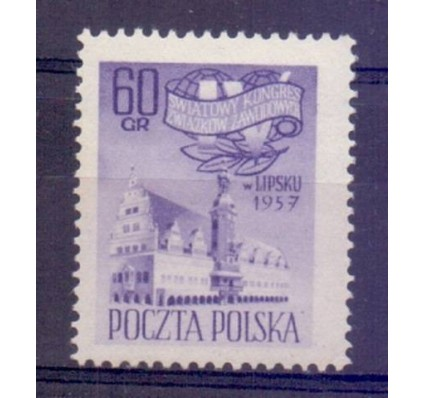 Znaczek Polska 1957 Mi 1028 Fi 884 Czyste **