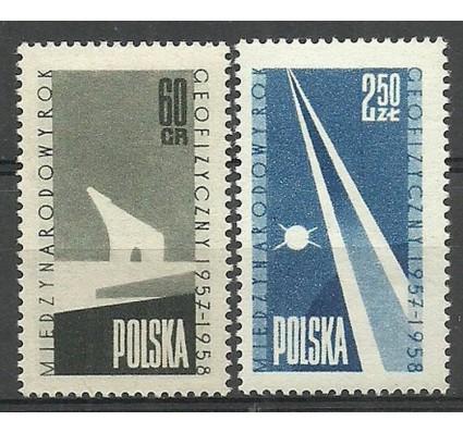 Znaczek Polska 1958 Mi 1061-1062 Fi 916-917 Czyste **