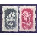 Polska 1958 Mi 1073-1074 Fi 928-929 Czyste **