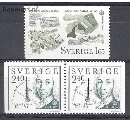 Znaczek Szwecja 1982 Mi 1187-1188dl,dr Czyste **