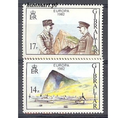 Znaczek Gibraltar 1982 Mi 451-452 Czyste **