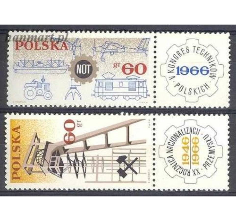 Polska 1966 Mi zf 1653-1654 Fi zf 1504-1505 Czyste **