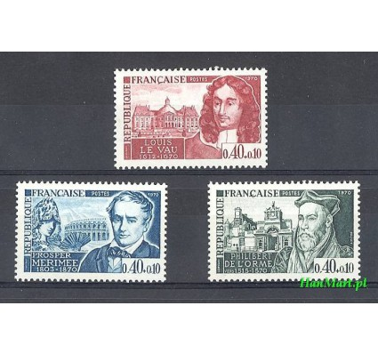 Znaczek Francja 1970 Mi 1696-1698 Czyste **